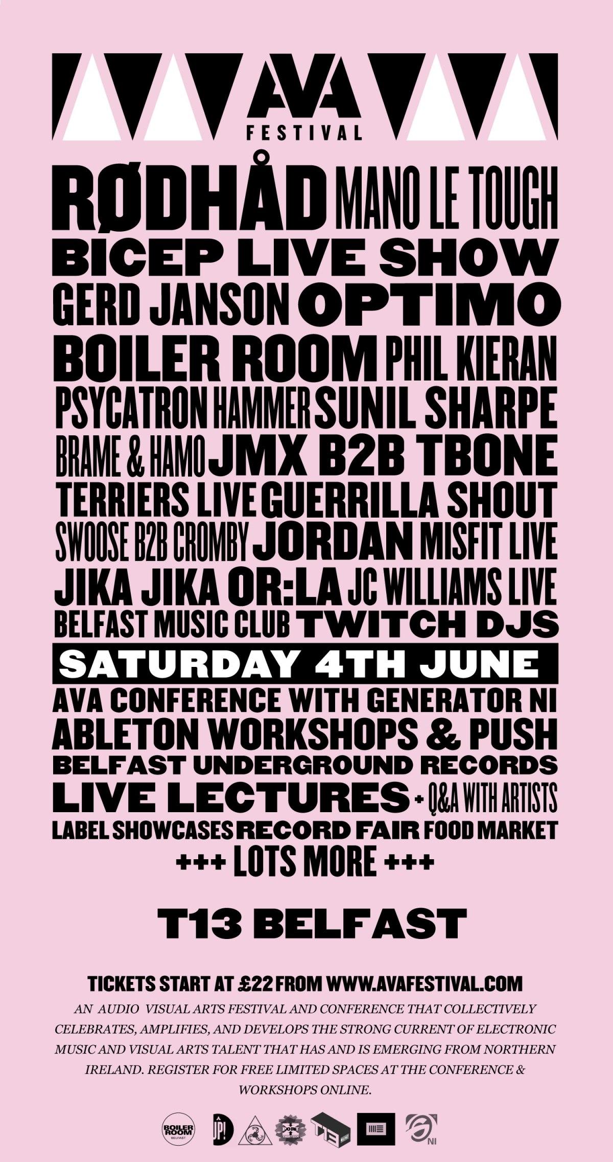 Belfast Ava Festival Announces HugeLineup